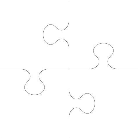 4 Puzzle Template large puzzle template cliparts co
