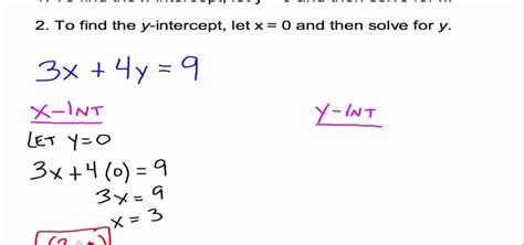 How To Find S On How To Use And Find X Y Intercepts In Algebra 171 Math