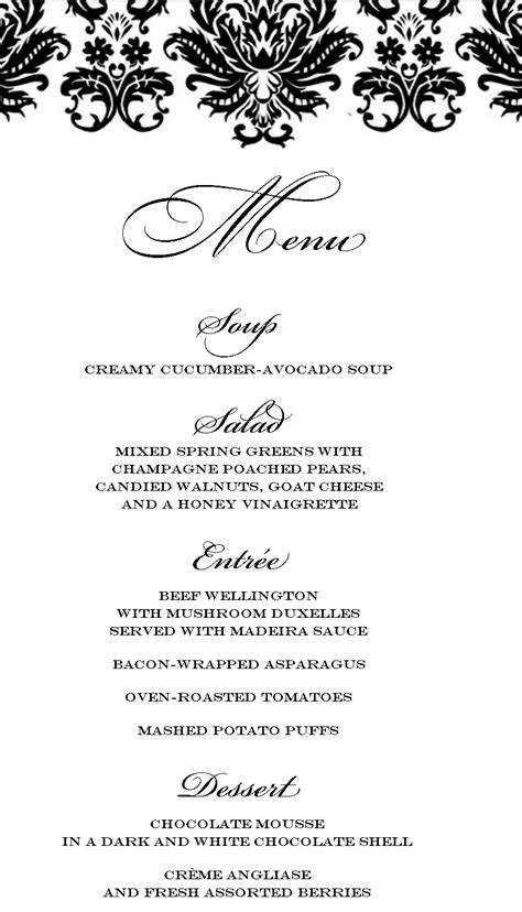 formal dinner menu ideas stranded in cleveland dinner menu beef
