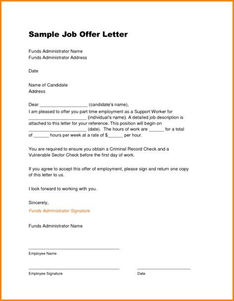 Career Cover Latter: Simple job offer letter templa