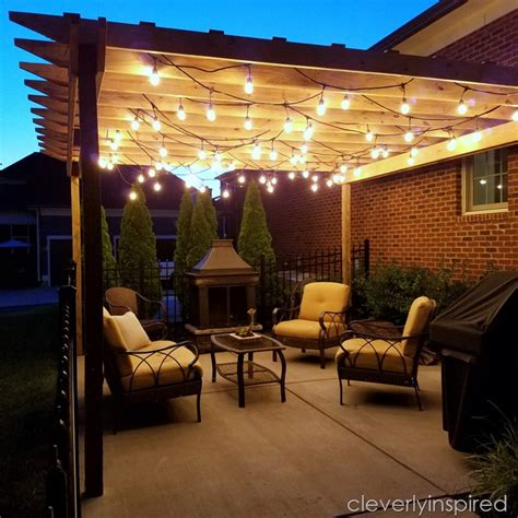 Outdoor Pergola Lights 30 Cool Pergolas With Lights Pixelmari