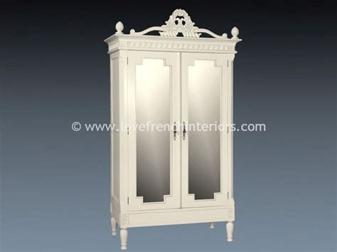 white mirrored armoire alice mirrored armoire in antique white