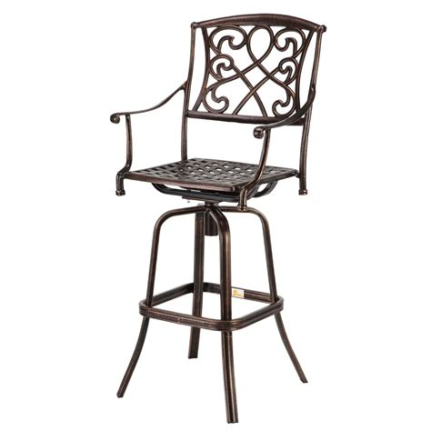 Wrought Iron Outdoor Bar Stools Used by Palm Springs Copper Wrought Iron Effect Outdoor Patio Bar