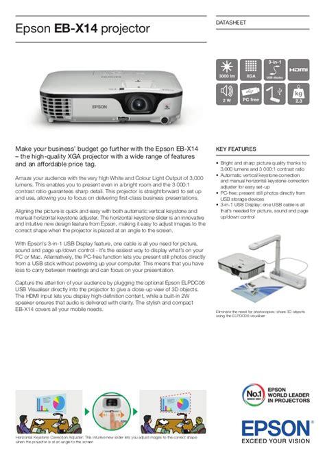 Proyektor Epson Eb X14 epson projector eb x14