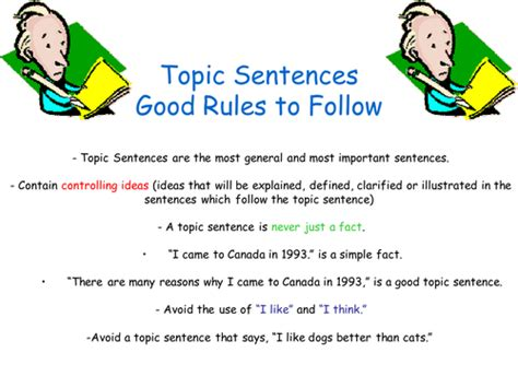 How To Make A Topic Sentence For A Research Paper - topic sentences by johncallaghan teaching resources tes