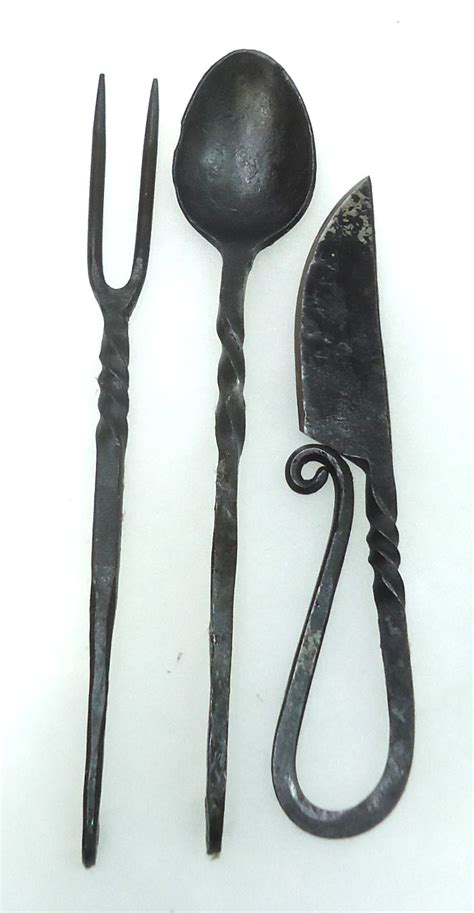 wrought iron flatware 3pc wrought iron utensil set