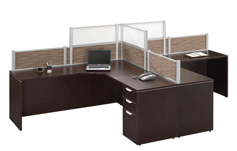 2 person workstation desk dark walnut 2 person l shape desk workstation privacy
