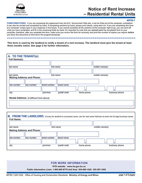 rent increase notice sample create a in minutes legal templates