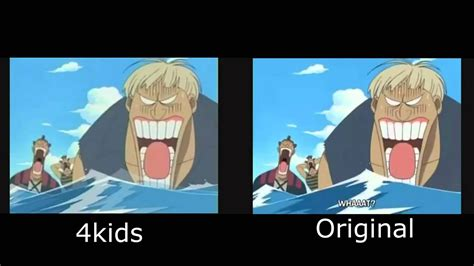 Anime 4kids by Luffy Defeats Don Kreig 4kids Vs Japanese