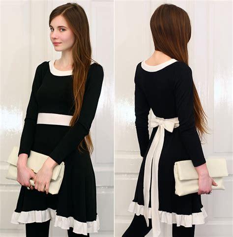 Glr 333 Backbow Top ariadna majewska arafeel black and white dress with bow back vj style white clutch bag oval