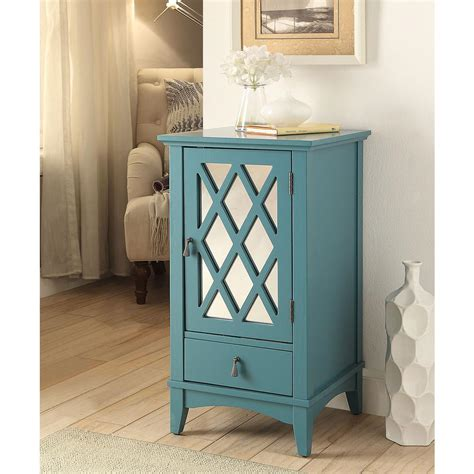 Teal Cabinets by Acme Furniture Ceara Teal Storage Cabinet 97380 The Home