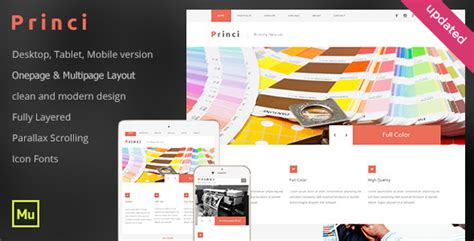 24 Best Adobe Muse Business Corporate Templates Weelii Printing Company Website Template