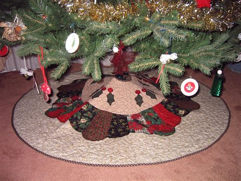 finished christmas tree skirt bunks blog