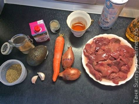 Тушёная печень рецепты с фото