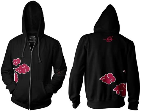 Jaket Anime Sweater shippuden anti leaf clouds akatsuki anime licensed hoodie s ebay