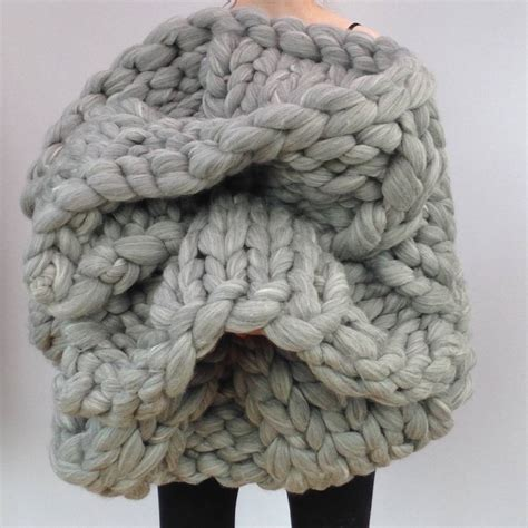 big knitting wool knitted chunky blanket by wool couture