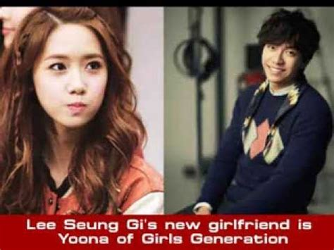 lee seung gi girlfriend lee seung gi s new girlfriend is yoona of girls generation