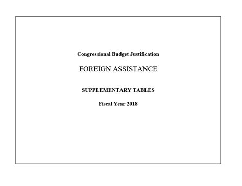 Financial Justification Letter Budget U S Agency For International Development