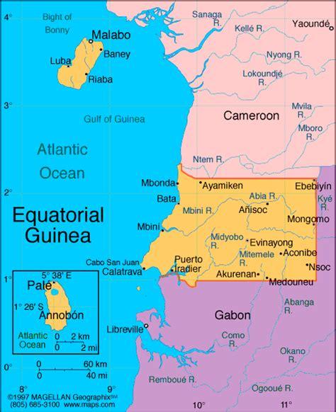 guinea ecuatorial map atlas equatorial guinea