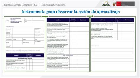 programas curriculares jec uso de materiales educativos jec