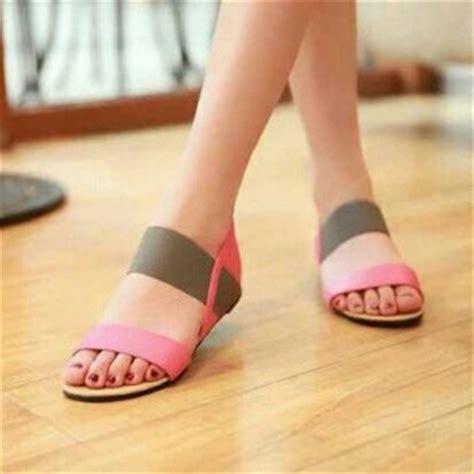Sandal Jepit Teplek Bunga Bg12 Merah sandal teplek flat wanita cantik model terbaru murah