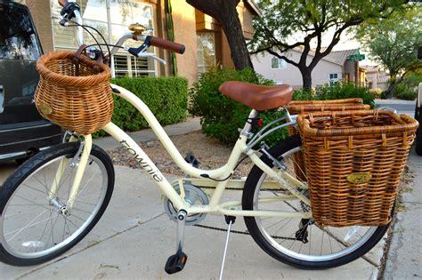 basket for bike my new bike an electra townie 7d with nantucket bike baskets rear baskets yes my