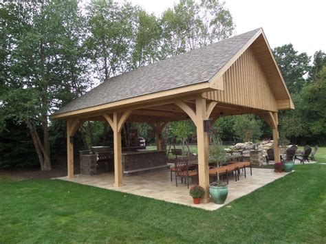Backyard Pavillions by Outdoor Structures Gazebos Pavilions And Pergolas