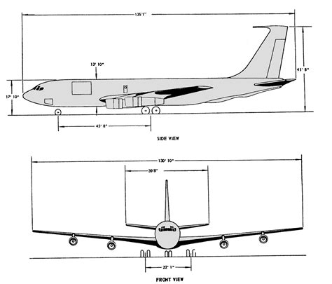 C Drawing Size by File Usaf Kc 135 Line Drawing Medium Res Png Wikimedia