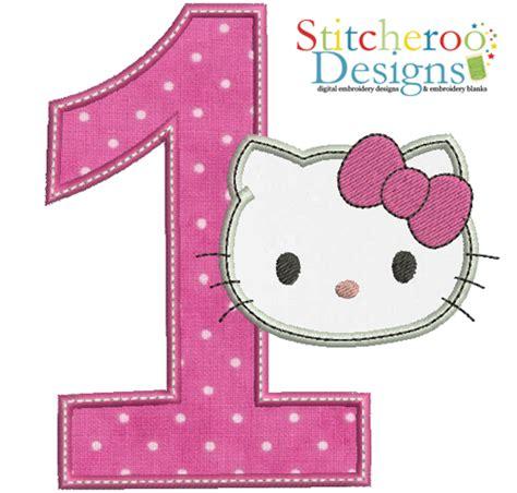 Cincin Hellokitty 1 hello 1 applique embroidery design