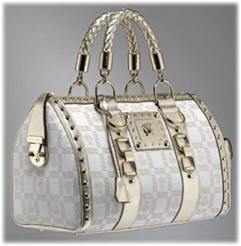 versace metallic monogram bag purseblog
