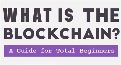 blockchain for beginners understand the blockchain basics and the foundation of bitcoin and cryptocurrencies books infographic an ultimate beginner s guide to blockchain