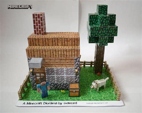 Minecraft Papercraft Models - minecraft diorama by svanced 1 by svanced on