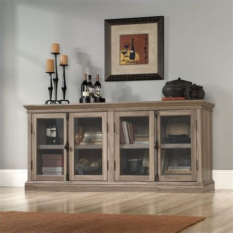 sauder salt oak storage credenza in salt oak 414721