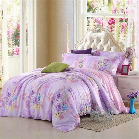 purple floral bedding light purple lilac mauve lavender bedding set floral queen