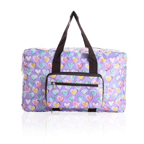 Bag Is Eco Chic by Eco Chic Fold Away Expandable Cabin Bag Holdall Purple