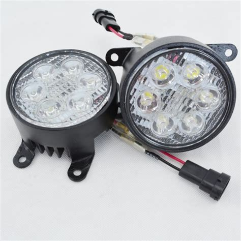 led fog lights led front fog light l spotlight drl for mitsubishi
