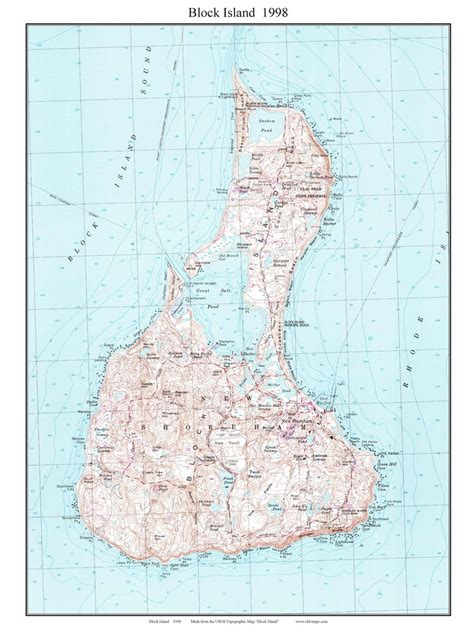 block island map topo maps of block island rhode island