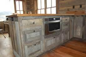 Barn Wood Kitchen Cabinets Buitenkeuken Bouwtekening Om Zelf Te Maken Steigerhout