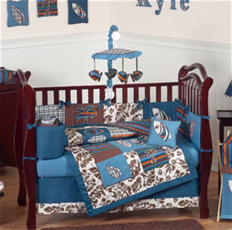tropical hawaiian baby bedding 9pc boys surf crib set