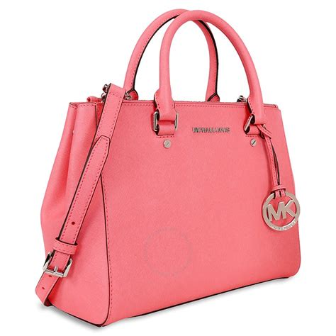Michael Kors Handbag 4 michael kors sutton leather medium satchel handbag coral