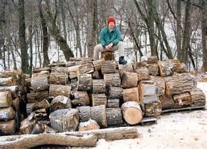 Almost half of the firewood burned by homeowners is used as a primary