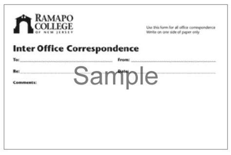 Interoffice Routing Slip Template by Stationery Design Standard Ramapo College Of New Jersey