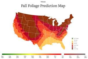 fall colors map 2017 fall foliage map viewing nyc
