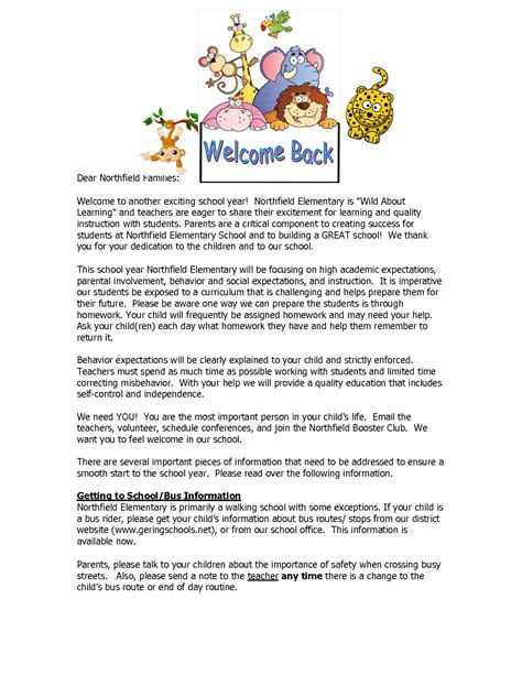 College Welcome Letter writing a welcome letter to parents wel e letter to