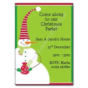 snowman invitation invites