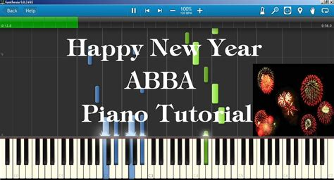 to play at new years happy new year abba piano tutorial how to play on piano