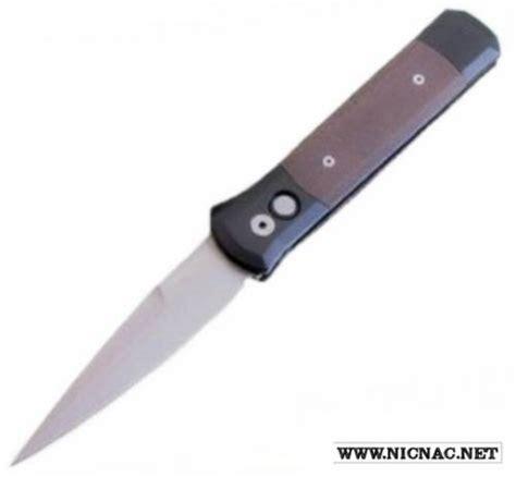 godfather knife protech knives godfather green linen micarta blasted blade 935