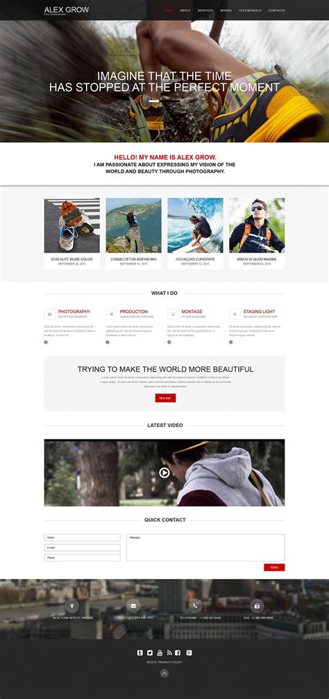 muse templates photography template 52486 ensegna themes
