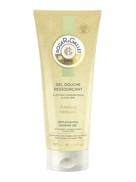 gel amande roger gallet replenishing shower gel amande persane 200ml
