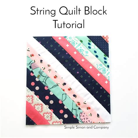 String Tutorials - string quilt block